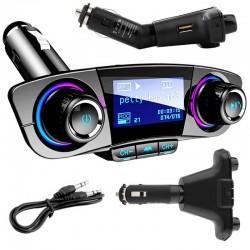 Transmiter FM z Bluetooth - zestaw głośnomówiący