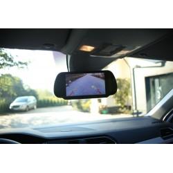 """Monitor 7"""" w lusterku z pilotem TFT LCD 12V"""