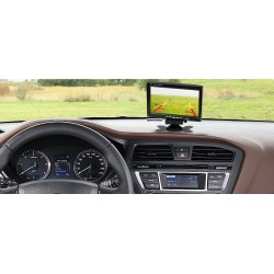 "Panoramiczny monitor TFT LCD 7"" 12-24V 2xVIDEO"