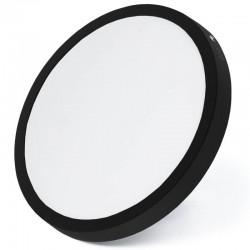 Czarny okrągły plafon LED 24W niemrugający CCD panel...