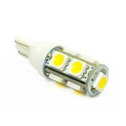 Żarówka samochodowa LED W5W T10 9 SMD 5050 Biała ciepła